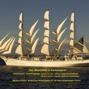 """""""Dar Młodzieży"""" kommt nach Swinemünde"""